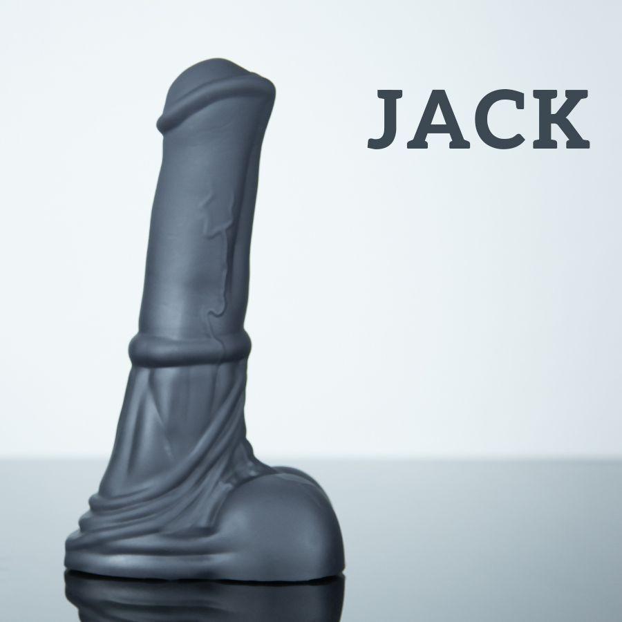 Koňské dildo Weredog Jack Jet střední