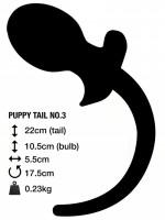 Anální kolík s ocasem M&K Puppy Tail No. 3