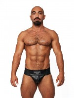 Jocksy Mister B Leather Premium Jockstrap černé