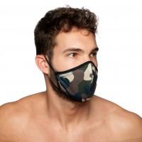 Rouška Addicted AC087 Camo Mask maskáčová zelená