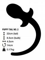 Anální kolík s ocasem M&K Puppy Tail No. 2