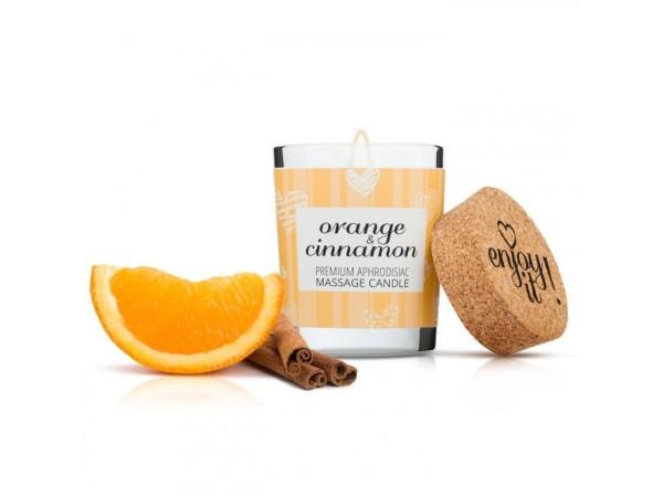 Masážní svíčka Magnetifico Enjoy it! Orange and Cinnamon 70 ml