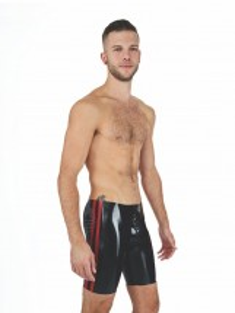 Gumové kraťasy Mister B Rubber Fucker Shorts černo-červené