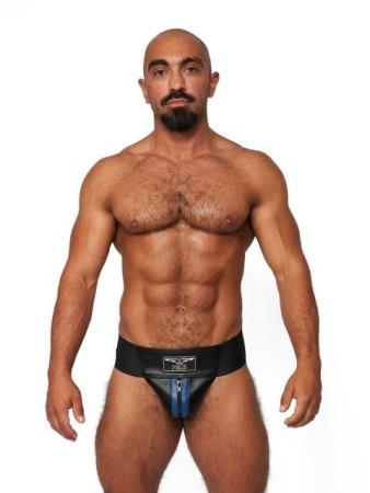 Jocksy Mister B Leather Premium Jockstrap černo-modré