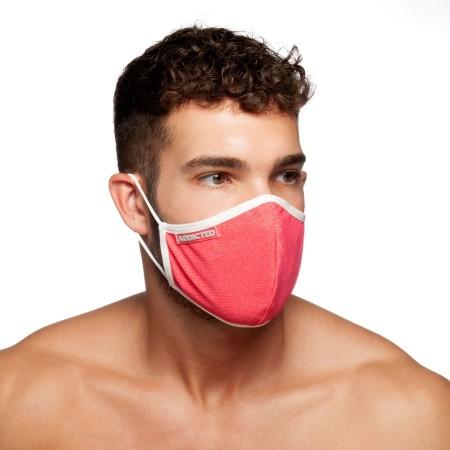 Rouška Addicted AC113 Red Stripes Mask