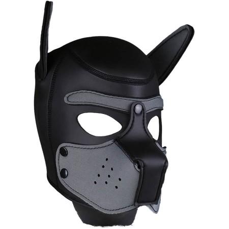Psí maska Neoprene Puppy Hood šedo-černá