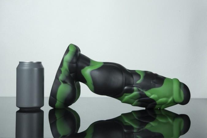 Dračí dildo Weredog Gage Jet/Evergreen Marbled extra velké