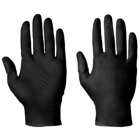 Nitrilové vyšetřovací rukavice černé 100 ks