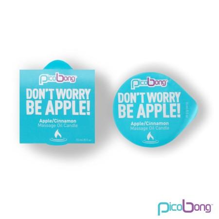 Masážní svíčka PicoBong Don't Worry Be Apple! 15 ml