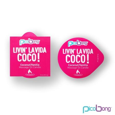 Masážní svíčka PicoBong Livin' La Vida Coco! 15 ml