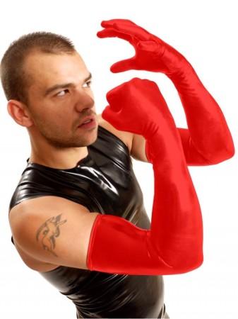 Latexové rukavice k ramenům M&K Shoulder Gloves červené
